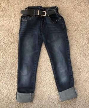 Low Rise jeans donkerblauw