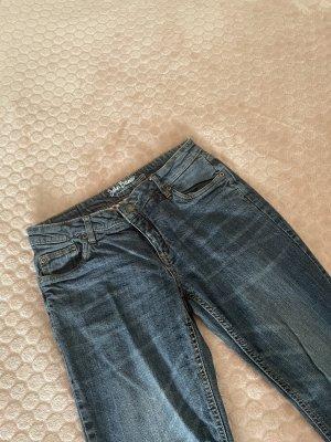 John Baner Jeans a zampa d'elefante blu scuro
