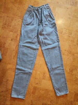 Vintage Jeansy z wysokim stanem błękitny