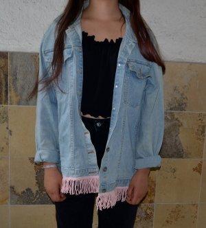 Vintage Jeans Jacke mit fransen