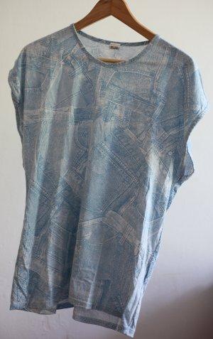 Vintage Jeans Print Shirt