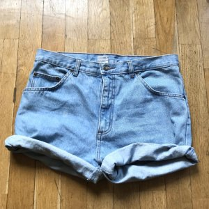Vintage Pantalón corto de tela vaquera multicolor