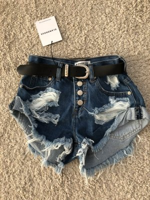 Vintage Jeans Shorts Ripped