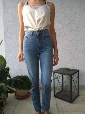 Pimkie Workowate jeansy błękitny