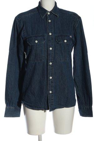 Vintage Jeansjacke blau Casual-Look