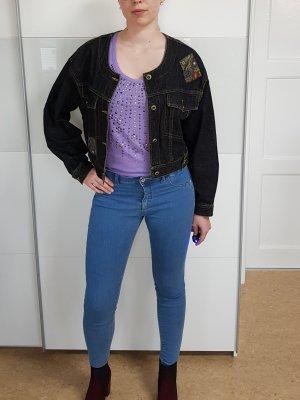 vintage Jeansjacke mit Stickerei