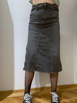 Vintage Jeansrock mit schlitz