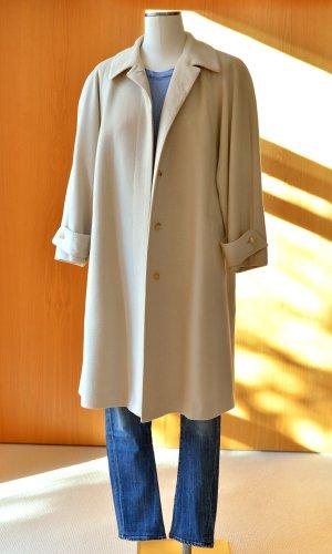 Vintage JOBIS Wollmantel Beige 42/L-XL Mantel 70er 80er Wolle Mantel oversize