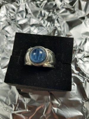 Vintage JOOP! 925 Silber Blauglaskrone mit J! Initial ca. Gr.57 verstellbar