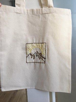 True Vintage Bolso de tela amarillo-blanco puro