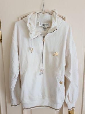 Laurèl Jersey con capucha blanco-color oro Algodón