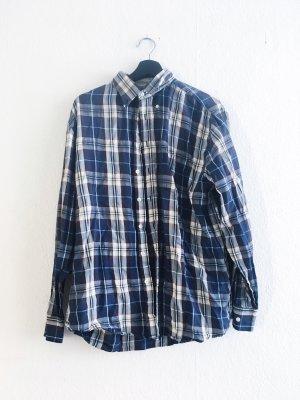 Vintage kariertes Holzfäller Hemd blau Oversized S