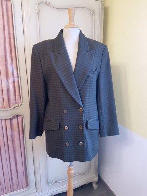 Vintage Karo-Jackett aus Wolle | 80er Jahre