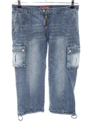 Vintage Kenji 3/4 Jeans blau Casual-Look
