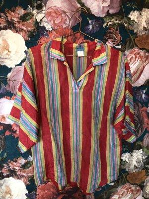 Vintage KENZO Silk Shirt Tunika // Oversize // Rainbow Style
