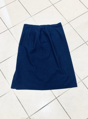 Vintage- klassischer Minirock/ Business- Tapezrock Wolle dunkelblau made in UdSSR Gr. 42-44/XL-XXL