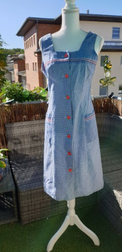 Vintage Kleid blau kariert