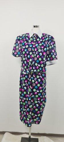Vintage Kleid/ Blau mit Punkten/ Größe 46/ Zustand: Sehr gut