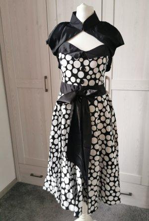 Vintage Kleid Bolero Polka Dots Retro Swingkleid Punkte Petticoatkleid 50er