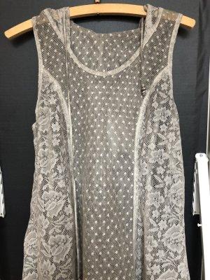 Vintage Robe à capuche gris