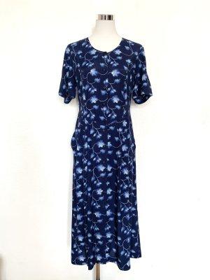 Vintage Kleid dunkelblau