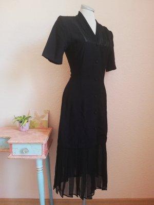 Vintage Kleid Midikleid schwarz Gr. S 36 Kurzarmkleid gothic Rockabilly