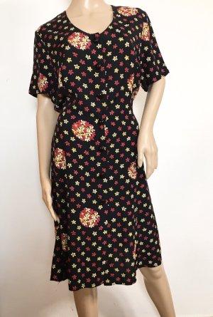 Vintage Kleid mit Blumen zum binden aus Viskose Made in Italy M/L