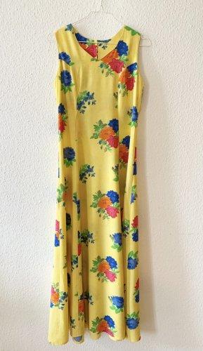 Vintage Robe découpée multicolore