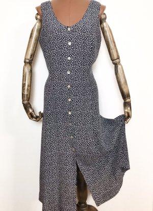 Vintage Kleid mit Millefleur zum binden hinten aus Viskose