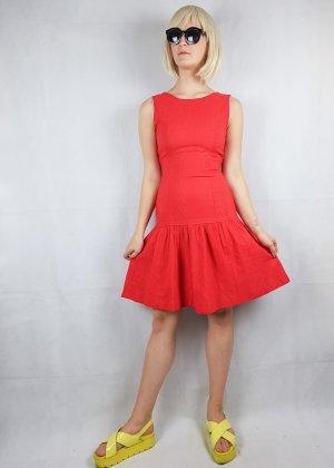 True Vintage Robe découpée rouge