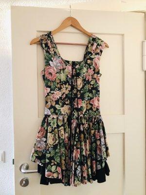 Vintage Kleid mit Schnürung floral
