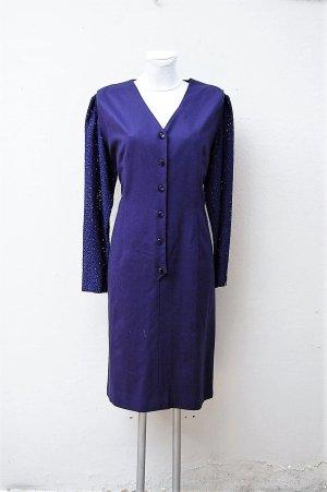 Woolen Dress blue-dark blue