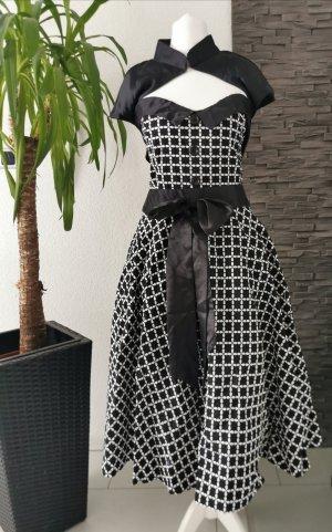Vintage-Kleid Tellerrock 50er Jahre Retro Rockabilly Vintagekleid Muster