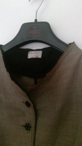 TRANSIT PAR-SUCH Robe manteau gris anthracite-noir tissu mixte