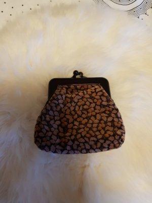Vintage - kleiner Geldbeutel / Mini-Kosmetiktasche aus Samt - sehr gut erhalten