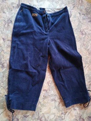 Vintage Pantalon en velours côtelé bleu