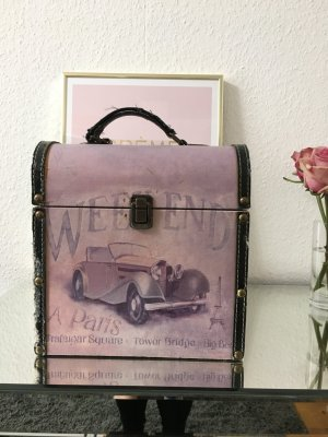 Valise lilas-noir