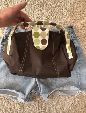 Mini sac brun foncé