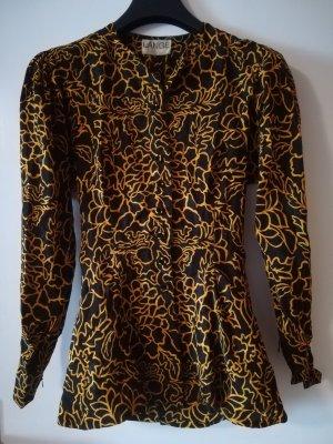 Lange Traje para mujer negro-marrón arena