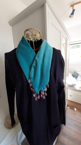 Noa Noa Cravate ascot rose clair-turquoise