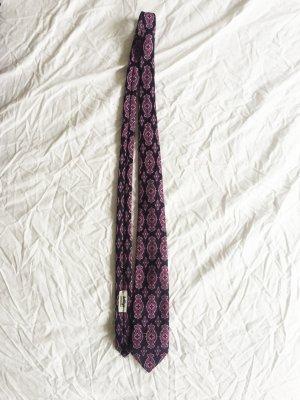 Vintage Krawatte in blau mit Muster in blau und rosa *neuwertig*