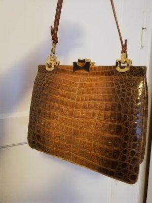 Vintage Krokodilleder / Krokoleder Handtasche