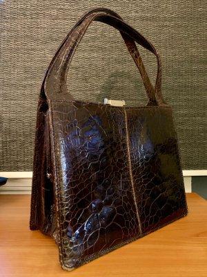 Frame Bag dark brown leather