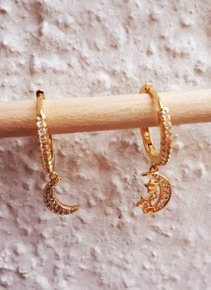 Vintage Ear Hoops gold-colored