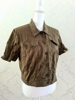 Vintage Kurzarm Bluse Überzieher Gr. 40