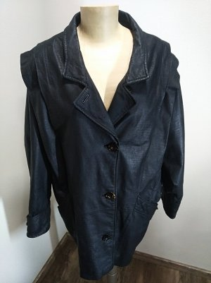 Vintage Leather Coat black leather