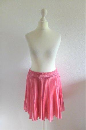 Vintage L1 Fashion Plissee Faltenrock rosa 80er 90er kurz mini Gr. 36 S