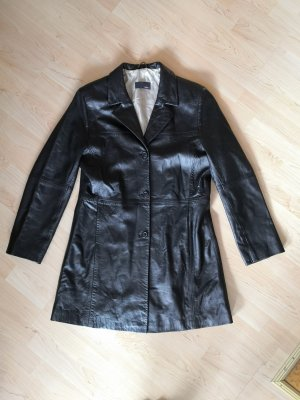 Jake*s Leather Coat black