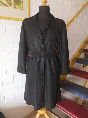 True Vintage Manteau en cuir noir
