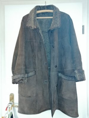 Kauper Fashion Cappotto in pelle marrone scuro